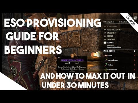 Elder Scrolls Online Beginners Guide - Provisioning Explained and How to lvl 1- 50 in 30 Minutes!