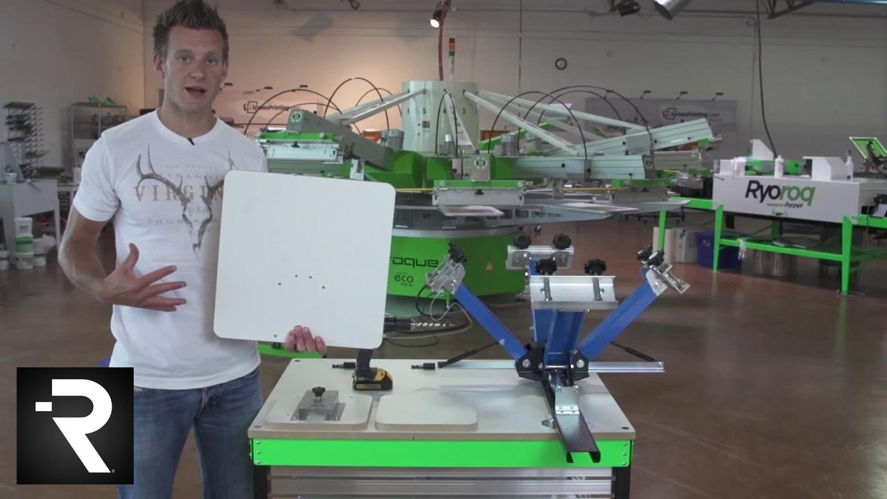 DIY Screen Printing Press Platen Bracket