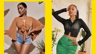 Top rated womens tops Shein Cамые модные и популярные женские топы в магазине Шейн