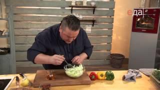 Рулет из утиных окорочков с фасолью и орехами