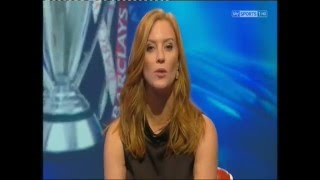 Sarah-Jane Mee in leather pencil skirt