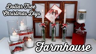 DOLLAR TREE FARMHOUSE CHRISTMAS DIYS | 4 EASY IDEAS | CHIC ON THE CHEAP