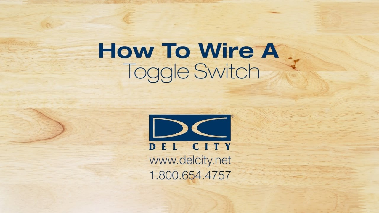 How To Wire A Toggle Switch Youtube Spst W Leads Onoff 20a Vetconet