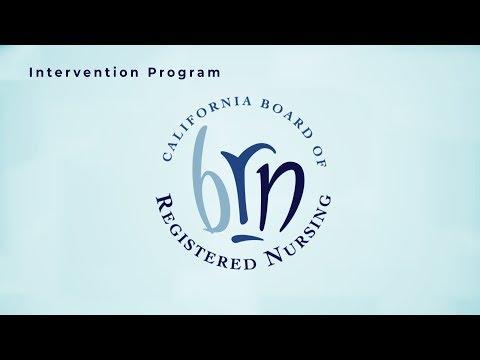 California Board of Registered Nursing - Intervention Program