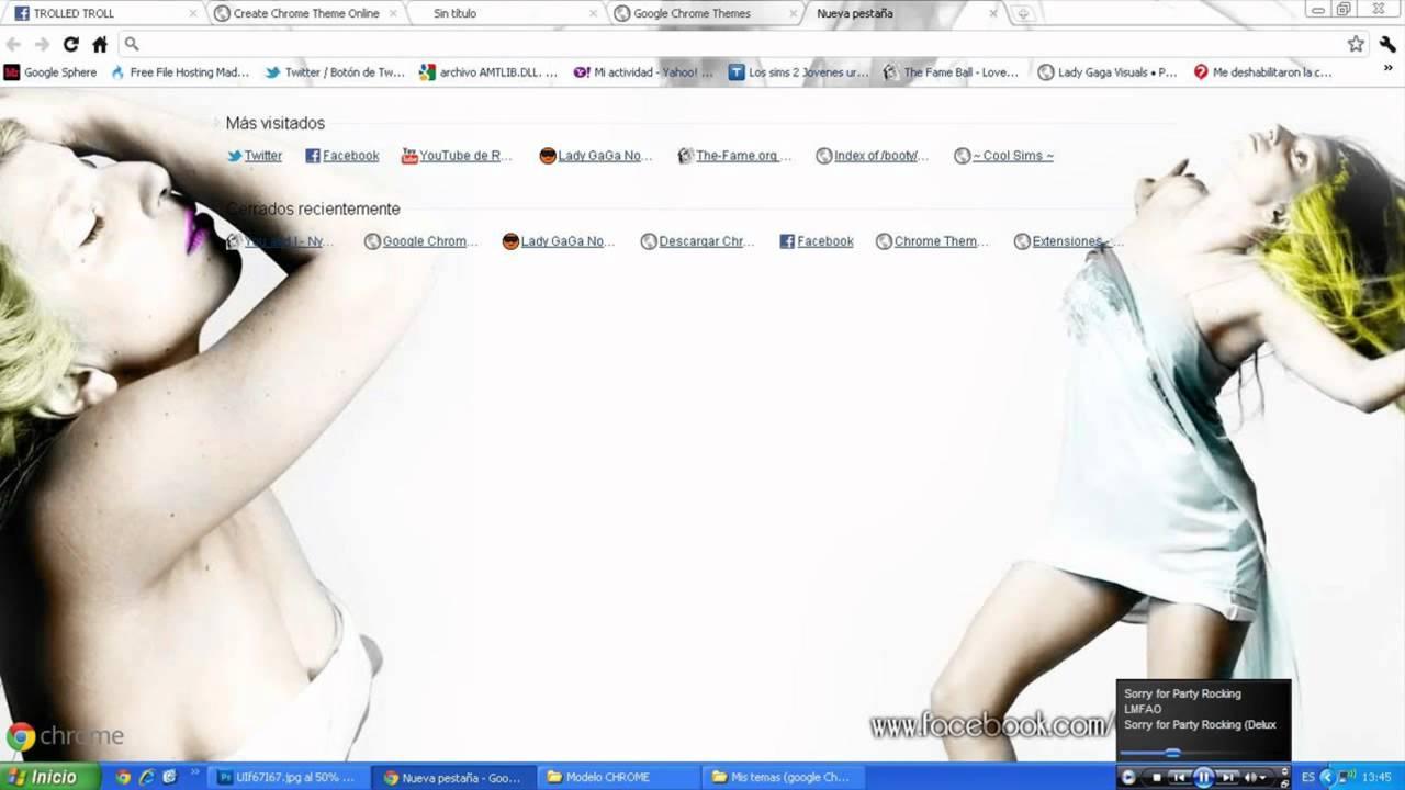 Google themes lady gaga - Google Chrome Themes Lady Gaga First Fashion Film Download