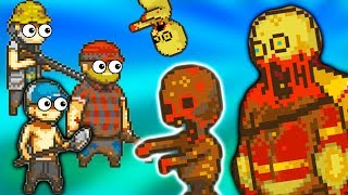 #2 Топ игра 2018 про Пиксельных Человечков Выживание в мире Зомби Апокалипсиса веселый летсплей