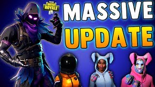 BEST UPDATE YET!! Fortnite Battle Royale NEW SKINS, WEAPONS, GAME CHANGES & MORE!! Patch Notes 3.4