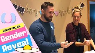 BEST GENDER REVEAL IDEA: Jimmy Fallon Egg Roulette Gender Reveal
