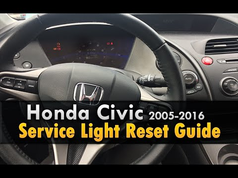 Honda Civic Service Light Reset 2006 2016 Youtube