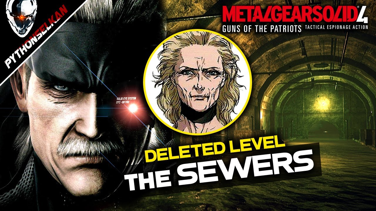 This Deleted MGS4 Mission Would've Been Amazing! - Snake & Eva in the SEWERS (Analysis + Showcase)