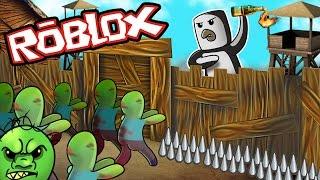 Roblox | ULTIMATE ZOMBIE BASE DEFENSE - Island Survival! (Roblox Zombie Survival)