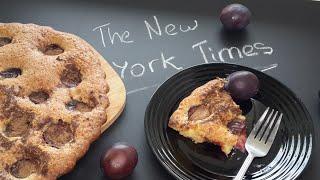Очень вкусный пирог со сливами рецепт из The New York Times