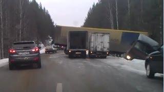 Жесткие аварии фур, грузовиков