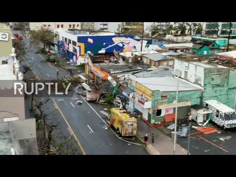 Puerto Rico: San Juan's streets strewn with wreckage in aftermath of Hurricane Maria