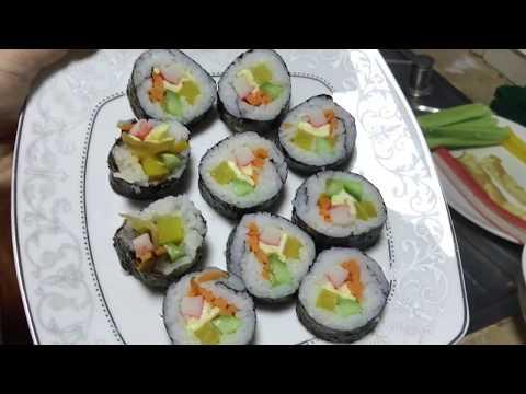 How to make KIMBAP | វិធីធ្វើ គីមបាប់ (Korean Food)