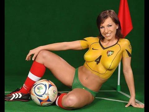 Бодиарт девушки футбол голых фото 198-57