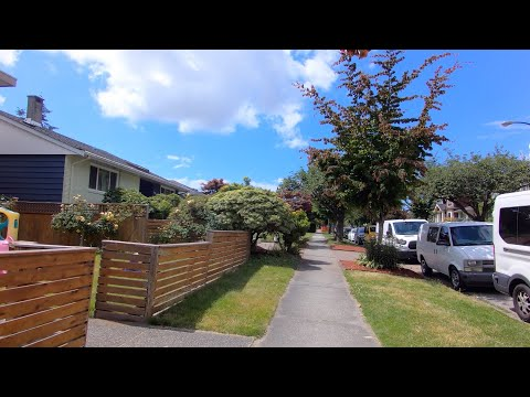 Exploring Vancouver BC Canada - Cambie Street - W62nd Avenue - Fremlin St. Marpole Area.