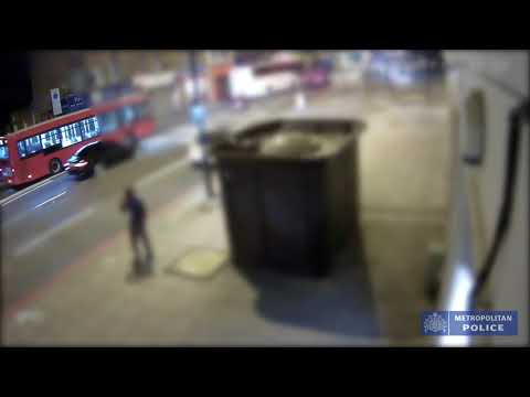 CCTV footage of Darren Osborne murder crash