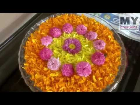 Floating Flowers Bowl Decoration For Teapoy 1 My Creations Youtube