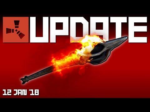 Fire and bone arrows, keylock changes | Rust update 12th Jan 2018