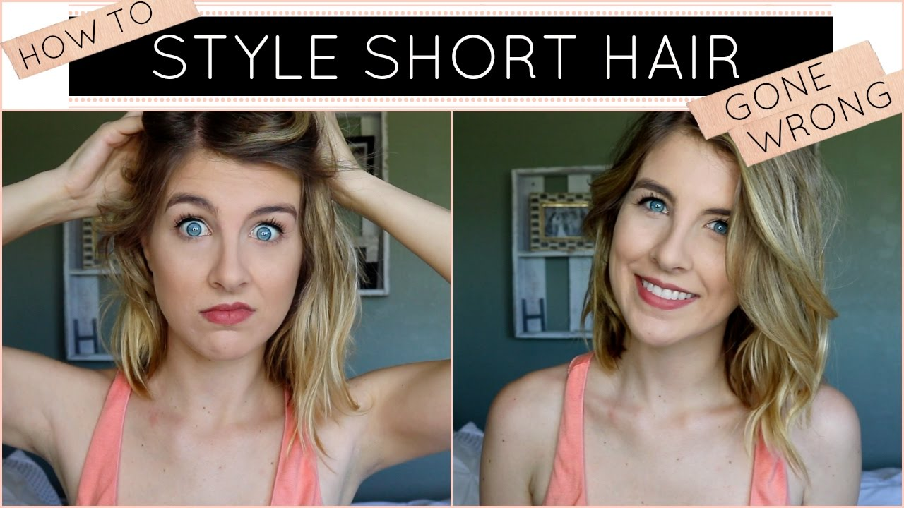 How to style short hair hair tutorial gone wrong youtube how to style short hair hair tutorial gone wrong baditri Choice Image