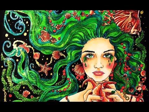 Mermaid Legends Coloring  Pt1