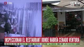 Asesinato de Fernando Báez: inspeccionan el restaurant donde habría comido Ventura