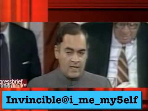 I am Young and I too have a Dream - Rajiv Gandhi