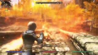 Skyrim SE Mod The Wizzard Warrior : Trying to be a Fire Bender
