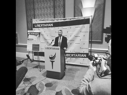 Gary Johnson News Conference - Libertarian Convention 2016