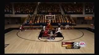 NCAA March Madness 2005 PS2 Gameplay: Oklahoma State vs. Indiana