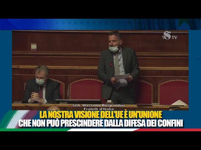 Il Sen. Ruspandini  replica alle comunicazioni del Presidente Draghi in vista del Consiglio europeo