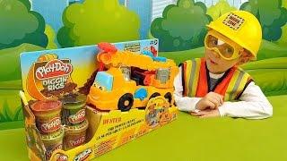 Кран Play Doh и строитель Даник - Видео для детей с пластилином Плей До(Кран Play Doh в этом видео для детей с маленьким строителем Даником обязательно понравятся маленьким любителя..., 2016-01-24T15:06:35.000Z)