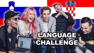 SLOVENSKI VS HRVATSKI! 🇸🇮🇭🇷 (Language challenge) | 8rasta9 & Svenky /w BQL & Nika Zorjan