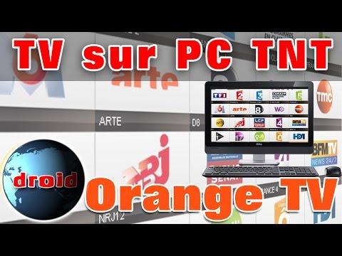 Orange TV sur PC la télévision TNT avec windows sans VLC et M3U.