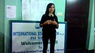What Our Trainees Say?(Ms.Sabina Koirala, WORLD VISION INTERNATIONAL,Interns)!