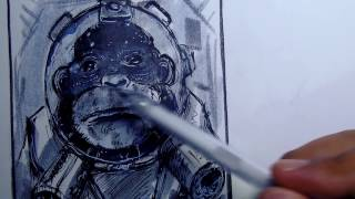 How to Draw a Space Monkey (Narrated)