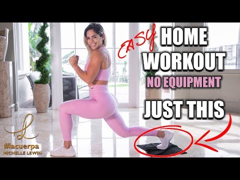 MICHELLE LEWIN: Easy Home Workout // No Equipment // Lower Body