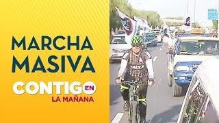 Masiva movilización en autopistas de Santiago - Contigo En La Mañana