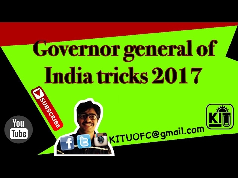 Governer General of India learning short tricks for IAS, SSC Exam