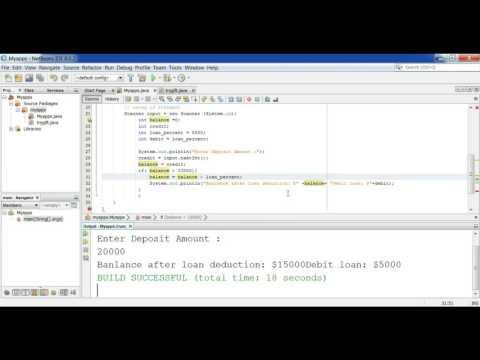 part-27 java programming loan deduction program using if statement
