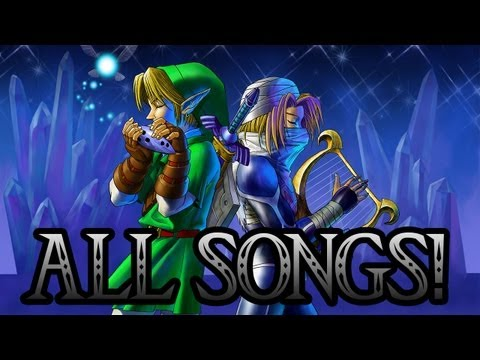 Legend Of Zelda: Ocarina of Time 3D  All Ocarina Songs!