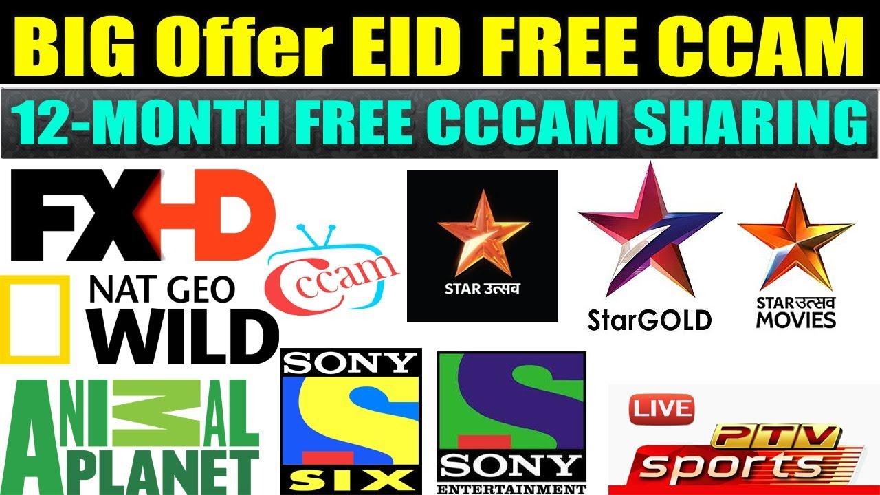 BIG EID Offer 12 month FREE CCCAM Sharing 1 year free cccam by SABIR ALI