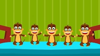 Cinque scimmiette | Five Little Monkeys