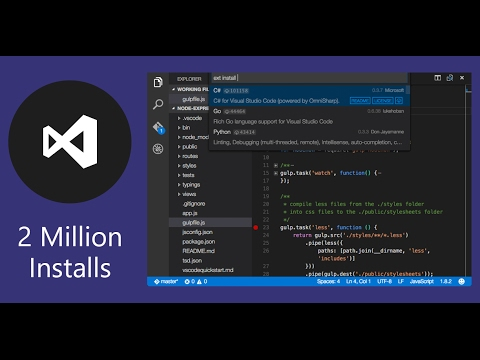 C# on mac with visual studio code and. Net core in 3 min youtube.