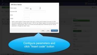"Video tutorial for ""ARI Docs Viewer"" Joomla! extension screenshot 1"