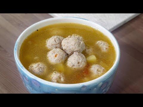 Недетский суп с фрикадельками, попробуй шарики на вкус!