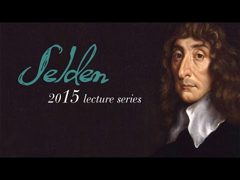 2015 Selden Society lecture - Dr Dominic O