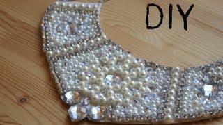 Repeat youtube video DIY Collar de perlas y piedras Swarovski