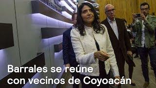 Barrales se reúne con vecinos de Coyoacán